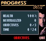 007: The World is Not Enough Game Boy Color Progress.