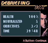007: The World is Not Enough Game Boy Color Debriefing. (Fake) Time - 39:48.