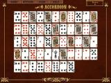 MVP Solitaire: Clubs Edition Windows A game of Accordion set up abd ready to play