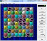 The start of a game using textured, 3D balls, with lighting and the game's 'next move help mode' turned on