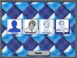 3D Chess Windows The available opponents<br>It is possible to select human vs human here<br>This shot comes from a 'lite' version of the game, the full game has eleven AI opponents