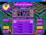 eMazing Mazes Windows Each 2D maze has a similar start screen. The games are all single player but the games allow for eight player id's to be registered. They can all be played in a window or full screen