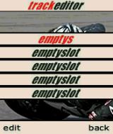 MotoGP N-Gage Track editor: there's space for five custom-built circuits.