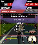 MotoGP N-Gage At the start of the race.(paused)