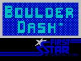 Boulder Dash ZX Spectrum Title screen