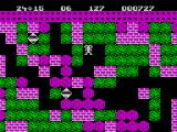 Boulder Dash ZX Spectrum Lots of walls, boulders, and diamonds on this level
