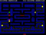 Pac-Man ZX Spectrum A ghost has almost caught me!!