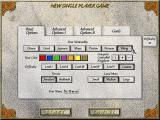 Seven Kingdoms Windows Single player option screen - there are a lot of options