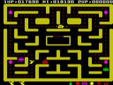 Ms. Pac-Man ZX Spectrum The red ghost chases Ms. Pac-Man