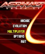 Asphalt: Urban GT N-Gage Main menu.