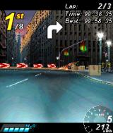 Asphalt: Urban GT N-Gage Driving in first person view.