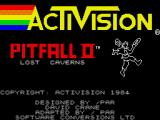 Pitfall II: Lost Caverns ZX Spectrum Title screen