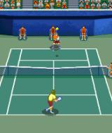 Virtua Tennis N-Gage Now we change positions and my player goes to the back. Not a very useful view.