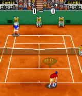 Virtua Tennis N-Gage Different set of court graphics.
