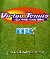 Virtua Tennis N-Gage Title screen.