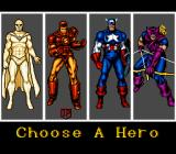 Captain America and the Avengers SNES Character Select