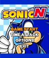 Sonic Advance N-Gage Main menu.