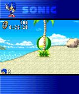 Sonic Advance N-Gage Sonic ate a power up and became like this.
