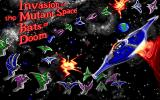 Invasion of the Mutant Space Bats of Doom DOS Title screen
