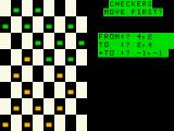 Micro Checkers TRS-80 MC-10 To stop jumping, -1,-1 has to be entered