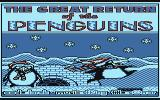 The Great Return of the Penguins Atari 8-bit Title screen