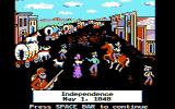 The Oregon Trail DOS The town of Independence (CGA Color Composite Graphics)