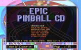 Epic Pinball: The Complete Collection DOS CD readme menu