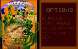 Epic Pinball: The Complete Collection DOS Table options