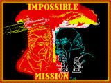 Impossible Mission ZX Spectrum Title screen