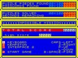 Impossible Mission ZX Spectrum Scores and game options