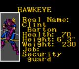 Captain America and the Avengers SNES Character introduction: Hawkeye.
