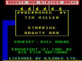 Bounty Bob Strikes Back! ZX Spectrum Title screen and credits