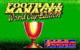 Football Manager: World Cup Edition 1990 DOS Title Screen (EGA).