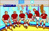 Football Manager: World Cup Edition 1990 DOS Locker Room (EGA).