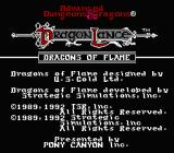 Dragons of Flame NES Title Screen