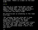 L: A Mathemagical Adventure BBC Micro The electrician needs some help
