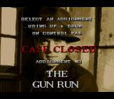 The Untouchables SNES Case Closed (assignment clear).