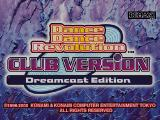 Dance Dance Revolution: Club Version - Dreamcast Edition Dreamcast Title screen