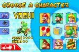 Mario Kart Super Circuit Game Boy Advance Character selection