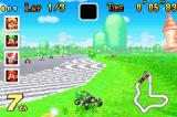 Mario Kart: Super Circuit Game Boy Advance Driving in the grass is much slower than driving on the road.