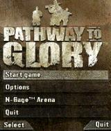 Pathway to Glory N-Gage Main menu.