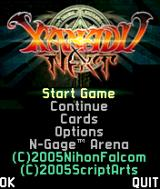 Xanadu Next N-Gage Main menu.