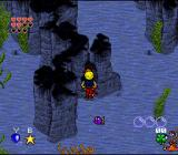 Young Merlin SNES Underwater you have to find and kiss mermaids to not run out of oxygen