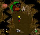 Young Merlin SNES And below Rainbow Land: The ant cave, guarded by a giant spider