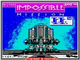 Impossible Mission II ZX Spectrum Title screen