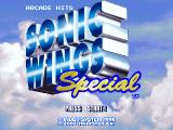 Sonic Wings Special PlayStation Title screen (Arcade Hits).