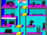 Impossible Mission II ZX Spectrum Searching for clues...