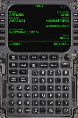 Commuter Airliners: Eurowings Professional Windows FMC panel IDENT screen for the ATR 42-500.