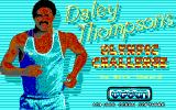 Daley Thompson's Olympic Challenge DOS Title Screen (EGA).
