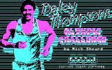 Daley Thompson's Olympic Challenge DOS Title Screen (CGA).